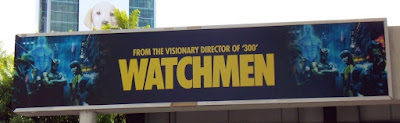 Watchmen movie billboard