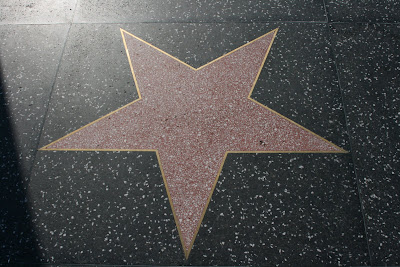 Blank Hollywood star on the Walk of Fame