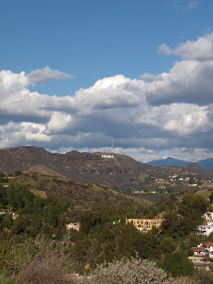 Runyon Canyon view of Hollywood Sign. Capitol Records Building