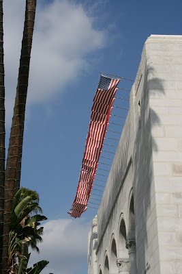 City Hall stars and stripes