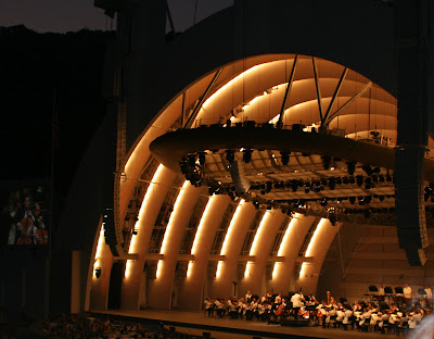 Classical music concert at the Hollywood Bowl