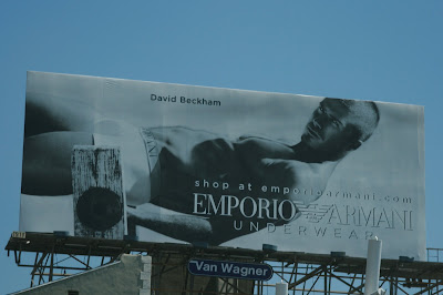 Hot David Beckham Emporio Armani underwear billboard