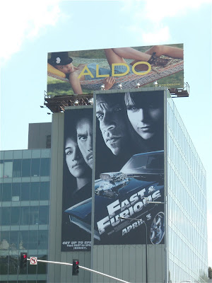 Fast & Furious movie billboard