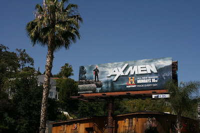Axmen History channel TV billboard