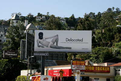 Delocated TV billboard