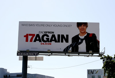 Zac Efron 17 Again movie billboard