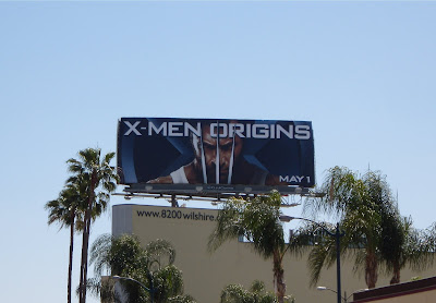 X-Men Origins Wolverine movie billboard on Wilshire Blvd