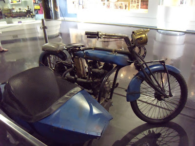 Leatherheads motorcycle and sidecar