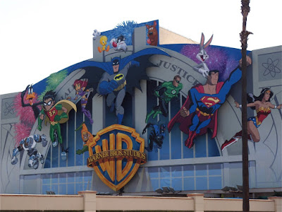 New Warner Bros Studios cartoon backlot wall mural