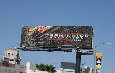 Terminator Salvation billboard on Melrose Avenue