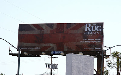 Union Jack Rug Company billboard