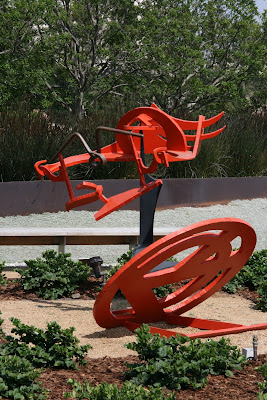 Gandydancer's Dream painted steel sculpture