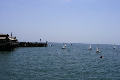 Yachts at Stearns Wharf