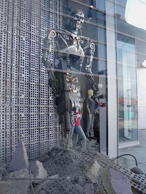 Terminator Salvation cyborg skeleton model at Universal Studios Hollywood