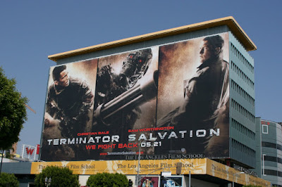 Huge Terminator Salvation billboard in Hollywood