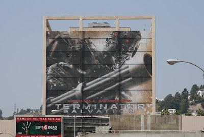 Terminator Salvation large building billboard