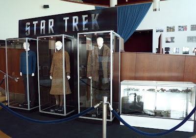 Star Trek movie costumes and props on display at ArcLight Hollywood