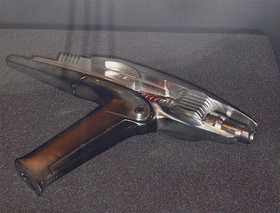 Star Trek phaser movie prop close-up