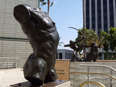 Bronze sculpture garden at LACMA