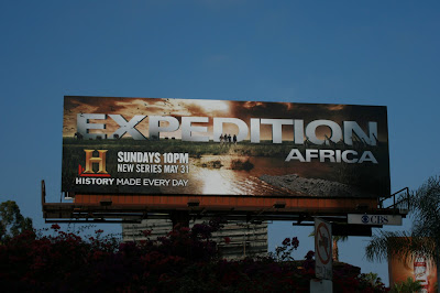 Expedition Africa History Channel TV billboard