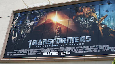 Transformers Revenge of the Fallen movie billboard