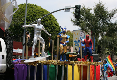 Marvel heroes at West Hollywood Gay Pride Parade 2009