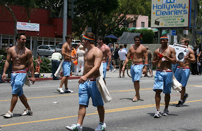 Hot male eye candy at West Hollywood Gay Pride Parade 2009