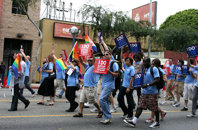 Gay marriage support at West Hollywood Gay Pride Parade 2009