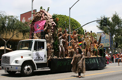 West Hollywood Gay Pride Parade 2009 Aztec float