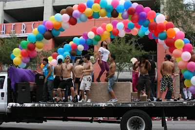 West Hollywood Gay Pride Parade 2009 dancing float