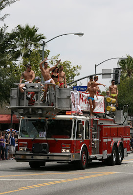 Micky's Fire engine West Hollywood Gay Pride Parade 2009