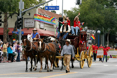 West Hollywood Gay Pride Parade 2009 stagecoach