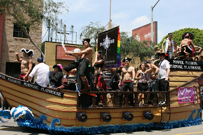 Gay Pirate ship at West Hollywood Pride Parade 2009