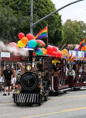 Rainbow steamtrain at West Hollywood Gay Pride Parade 2009