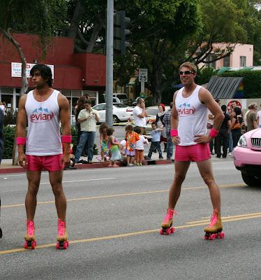 West Hollywood Gay Pride Parade 2009 roller-skate hunks