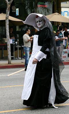 Wicked nun at West Hollywood Gay Pride Parade 2009