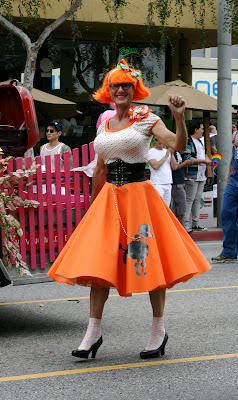 WEHO Gay Pride Parade 2009 poodle drag queen