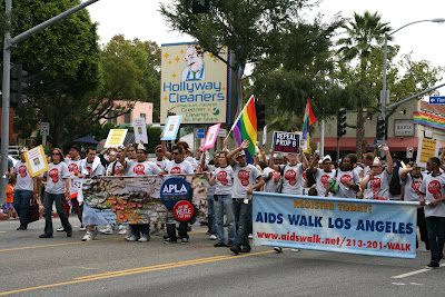 West Hollywood Gay Pride Parade 2009 Aids Walk group