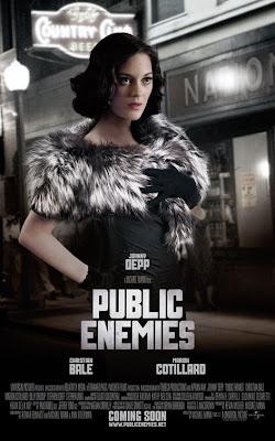 Public Enemies Marion Cotillard movie poster