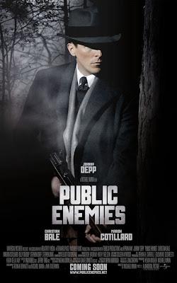 Public Enemies Christian Bale movie poster