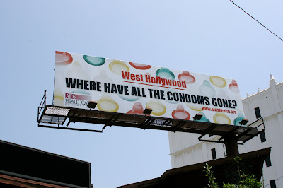Where have all the condoms gone in West Hollywood? billboard
