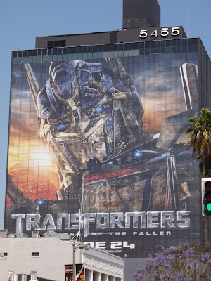 Transformers 2 Optimus Prime billboard