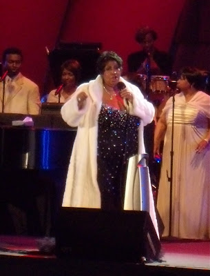 Soul idol Aretha Franklin at The Hollywood Bowl June 2009
