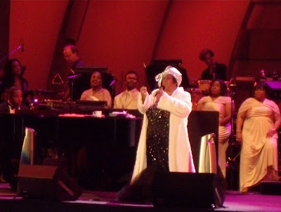 Singer Aretha Franklin at The Hollywood Bowl