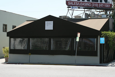 Mark's restaurant now closed on LA Cienega Blvd