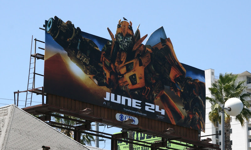 Autobot Bumblebee Transformers 2 film billboard