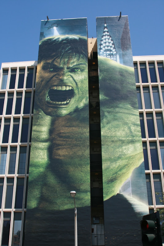 The Incredible Hulk movie billboard on Sunset Blvd in Los Angeles