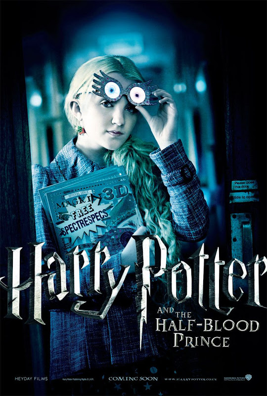 Luna Lovegood Harry Potter and the Half-Blood Prince movie poster