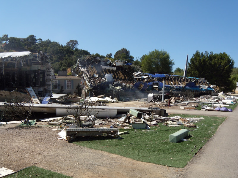 War of the Worlds movie plane crash backlot set