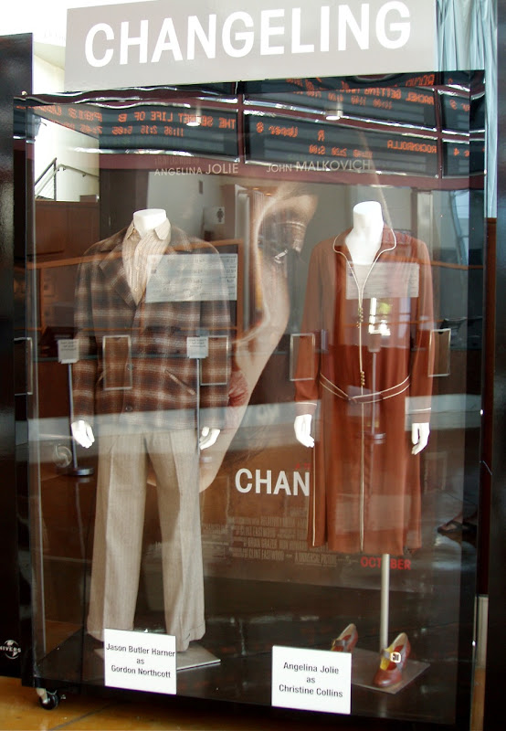 Original Changeling movie costumes on display